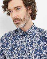 Ted Baker - Blue Floral And Paisley Cotton Shirt for Men - Lyst