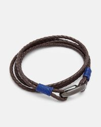 Ted Baker   Brown Woven Wrap Leather Bracelet   Lyst