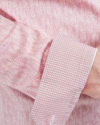 Ted Baker - Pink Cotton Poplin Shirt for Men - Lyst