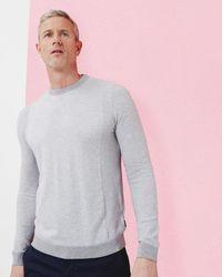 Ted Baker | Gray T For Tall Braintt Textured Crew Neck Jumper for Men | Lyst