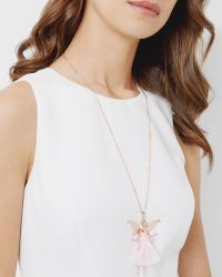 Ted Baker - Pink Fairy Ballerina Necklace - Lyst