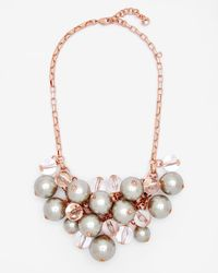 Ted Baker | Gray Pearl Cluster Necklace | Lyst