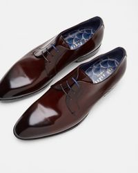 Ted Baker | Red Patent Leather Derby Brogues for Men | Lyst