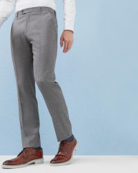 Ted Baker   Gray Debonair Mini Design Wool Trousers for Men   Lyst