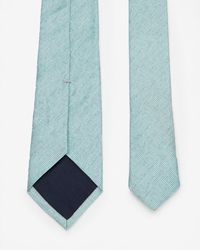 Ted Baker - Green Silk Textured Tie for Men - Lyst