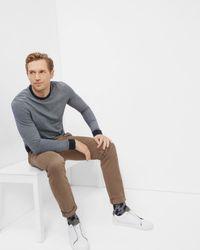 Ted Baker - Blue Crew Neck Cotton Jumper for Men - Lyst