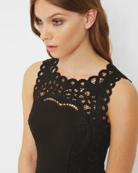 Ted Baker - Black Maree Embellished Flapper Dress - Lyst