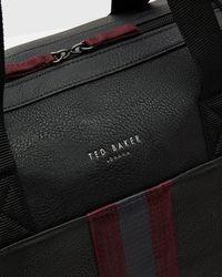 Ted Baker - Black Webbing Holdall Bag for Men - Lyst