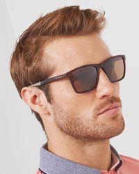 Ted Baker - Red Rectangular Sunglasses - Lyst