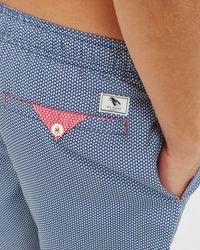 Ted Baker - Blue Geo Print Swim Shorts for Men - Lyst