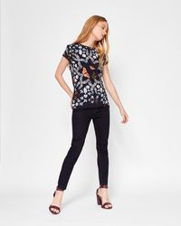 Ted Baker - Blue Kyoto Gardens Fitted T-shirt - Lyst