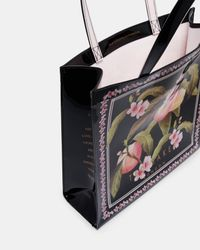 Ted Baker - Black Peach Blossom Large Icon Bag - Lyst