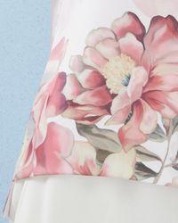 Ted Baker - Pink Painted Posie Twist Neck Top - Lyst