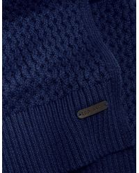 Ted Baker - Blueberry Textured Wool-blend Scarf for Men - Lyst