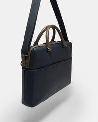 Ted Baker Blue Crossgrain Document Bag for men