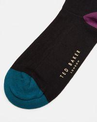 Ted Baker - Black Colour Block Socks for Men - Lyst