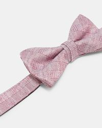 Ted Baker - Pink Subtle Check Silk Bow Tie for Men - Lyst