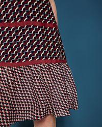 Ted Baker - Blue Woven T-shirt Dress - Lyst