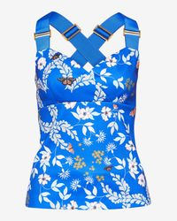 Ted Baker | Blue Kyoto Gardens Cross-over Top | Lyst