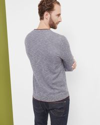 Ted Baker - Blue Space Dye Jumper for Men - Lyst