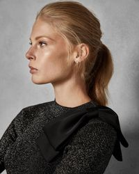 Ted Baker - Metallic Statement Bow Sweater - Lyst