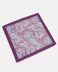 Ted Baker - Purple Paisley Silk Pocket Square for Men - Lyst