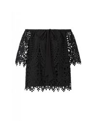 Temperley London | Black - Berry Lace Top - Women - Polyester - 12 | Lyst