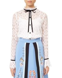 Temperley London - White Eclipse Lace Shirt - Lyst