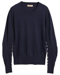 Burberry - Blue Crew-neck Sweater for Men - Lyst