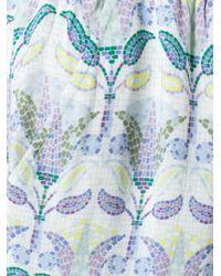 Tory Burch - Blue Mosaic Pants - Lyst