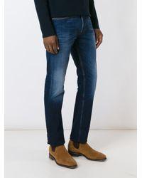 Stone Island - Blue Straight Leg Jeans for Men - Lyst
