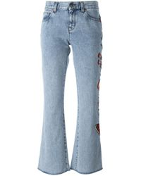 Gucci | Blue Stonewash Mid-rise Flared Jeans | Lyst
