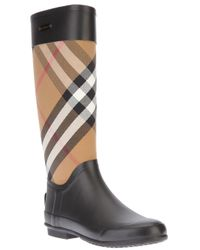 Burberry | Multicolor Check Panel Rainboots | Lyst