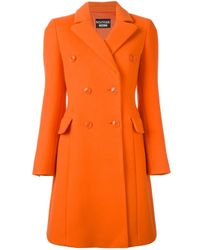 Boutique Moschino | Blue - Bow Detail Coat - Women - Acetate/rayon/virgin Wool/other Fibers - 44 | Lyst