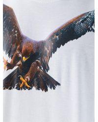 Neil Barrett - White Eagle Print T-shirt for Men - Lyst