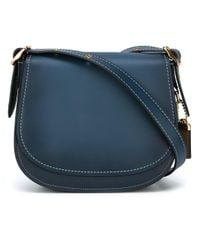 COACH | Blue Glovetan Leather Saddle Bag | Lyst
