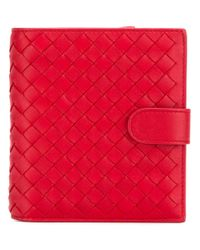 Bottega Veneta | Red Small Leather Wallet | Lyst