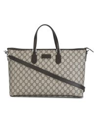 Gucci | Gray GG Supreme Canvas Tote Bag | Lyst