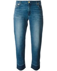 MICHAEL Michael Kors | Blue Blended Hem Denim Jeans | Lyst