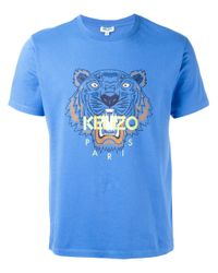 KENZO | Blue Tiger Printed T-shirt for Men | Lyst