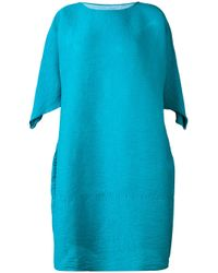 Issey Miyake Cauliflower - Blue Short Sleeves Dress - Lyst