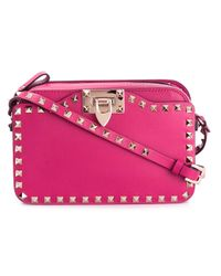 Valentino | Pink Rockstud Leather Cross-Body Bag  | Lyst
