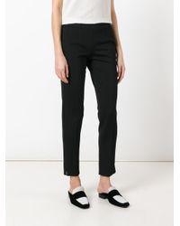 Emporio Armani - Black Trousers - Lyst