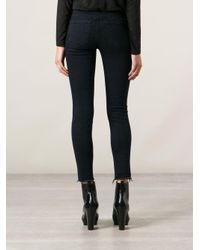 J Brand - Blue Ripped Skinny Jeans - Lyst
