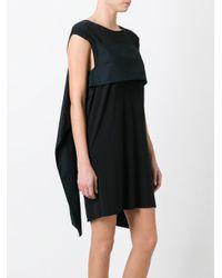 MM6 by Maison Martin Margiela - Black Cotton Dress - Lyst