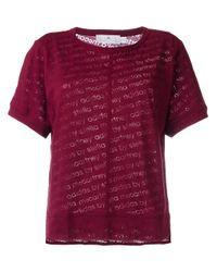 Adidas By Stella McCartney - Purple 'the Cool Logo' Tee - Lyst
