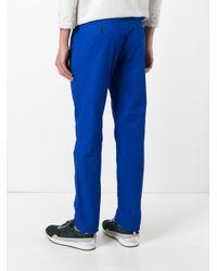 KENZO - Blue Straight Leg Trousers for Men - Lyst