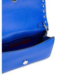 Valentino - Blue Rockstud Leather Shoulder Bag - Lyst