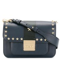 MICHAEL Michael Kors - Blue Star Studded Shoulder Bag - Lyst