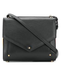 Sara Battaglia - Black Plisse Mini Crossbody Bag - Lyst
